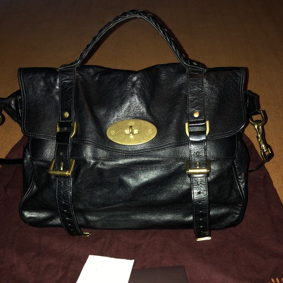 fd433f0bdc netherlands authentic mulberry alexa black handbag 1009003 d50ac 50d2d